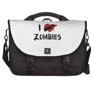 Amo el matar de zombis bolsa de ordenador