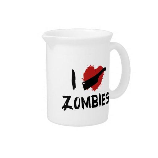 Amo el matar de zombis jarras de beber