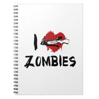 Amo el matar de zombis libreta espiral
