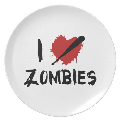 Amo el matar de zombis platos