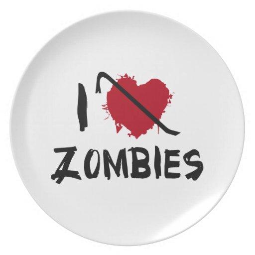 Amo el matar de zombis platos de comidas