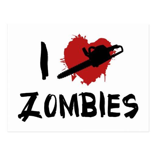 Amo el matar de zombis postales