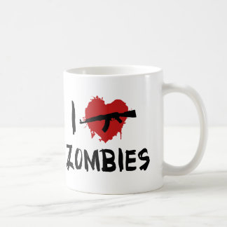Amo el matar de zombis tazas de café