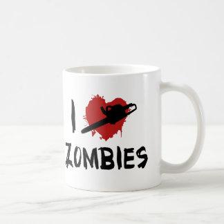 Amo el matar de zombis taza de café