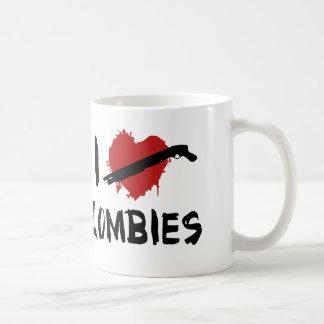 Amo el matar de zombis taza