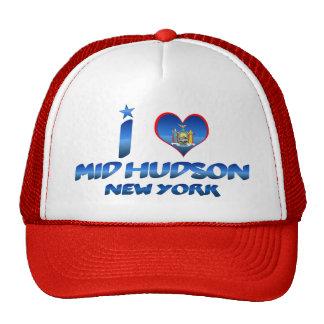Amo el mediados de Hudson, Nueva York Gorra