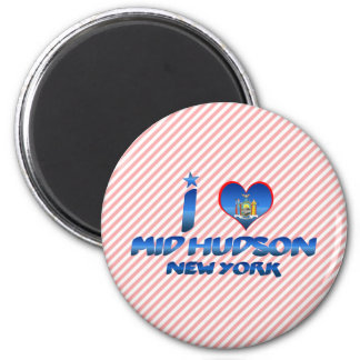 Amo el mediados de Hudson, Nueva York Imanes Para Frigoríficos