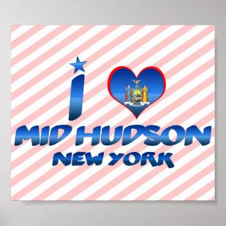 Amo el mediados de Hudson, Nueva York Posters