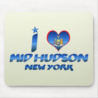Amo el mediados de Hudson, Nueva York Alfombrilla De Ratones