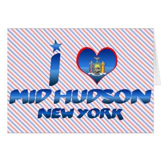 Amo el mediados de Hudson, Nueva York Felicitaciones