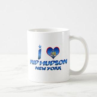 Amo el mediados de Hudson, Nueva York Taza De Café
