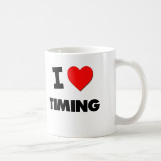 Amo el medir el tiempo taza de café
