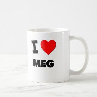 Amo el megohmio taza de café