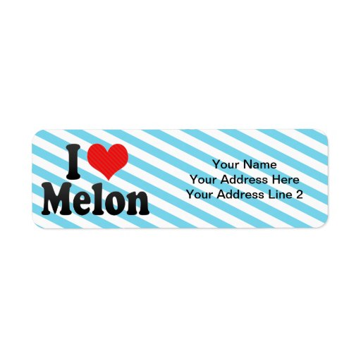 Amo el melón etiqueta de remite