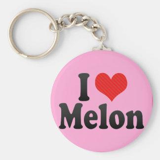 Amo el melón llavero personalizado