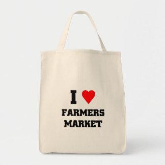 Amo el mercado de los granjeros bolsas