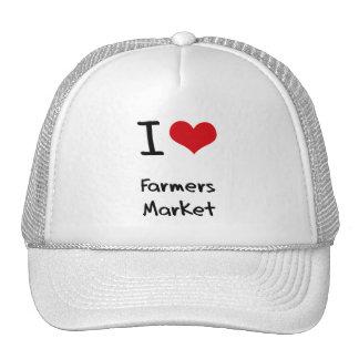 Amo el mercado de los granjeros gorros