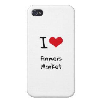 Amo el mercado de los granjeros iPhone 4 cárcasa