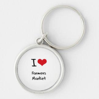 Amo el mercado de los granjeros llavero