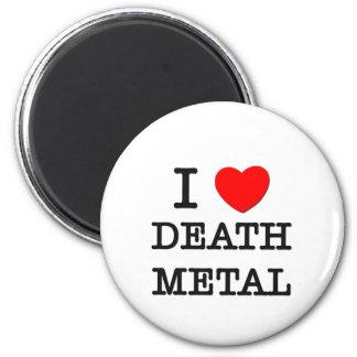 Amo el metal de la muerte iman de frigorífico