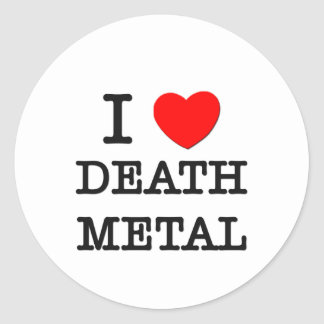 Amo el metal de la muerte etiqueta redonda