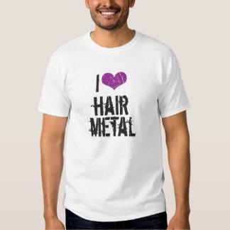Amo el metal del pelo poleras