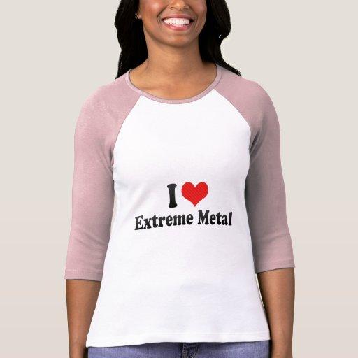 Amo el metal extremo camisetas
