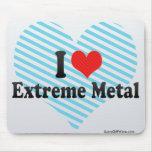 Amo el metal extremo tapete de raton