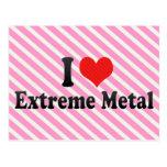 Amo el metal extremo tarjeta postal