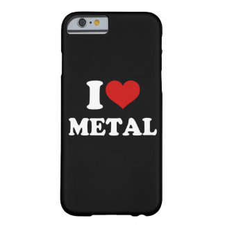 Amo el metal funda de iPhone 6 barely there