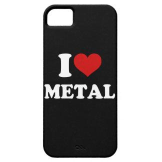 Amo el metal iPhone 5 fundas