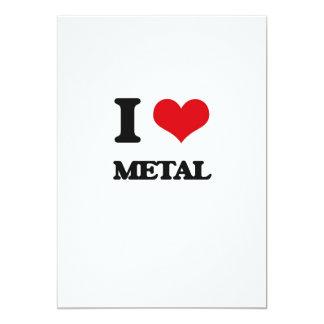 Amo el metal invitación 12,7 x 17,8 cm