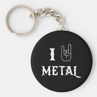 Amo el metal llavero redondo tipo pin