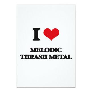 Amo el METAL MELÓDICO del MOVIMIENTO DE PIERNAS Invitación 8,9 X 12,7 Cm