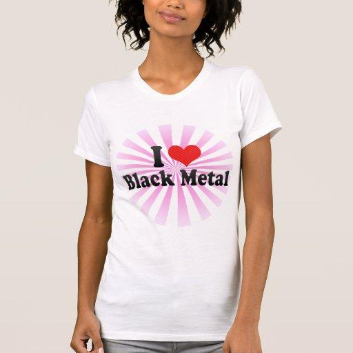 Amo el metal negro camisetas