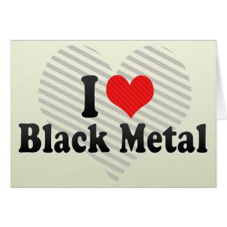 Amo el metal negro felicitaciones