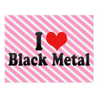 Amo el metal negro tarjeta postal