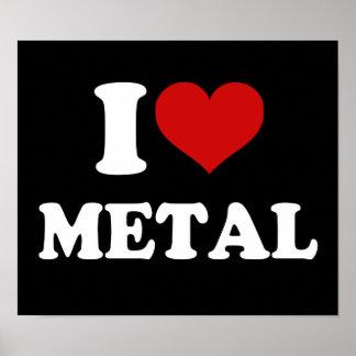 Amo el metal impresiones