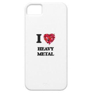 Amo el metal pesado funda para iPhone 5 barely there