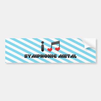 Amo el metal sinfónico etiqueta de parachoque