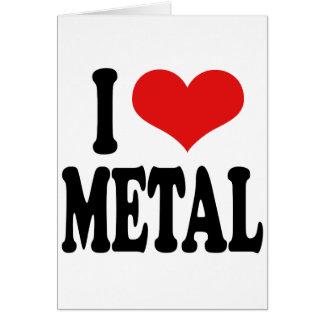 Amo el metal tarjeton