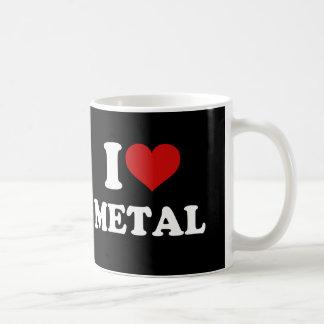 Amo el metal tazas
