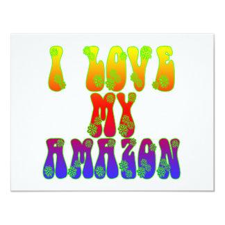 """Amo el mi Amazonas Invitación 4.25"""" X 5.5"""""""