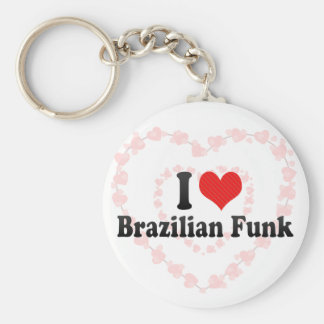 Amo el miedo brasileño llavero