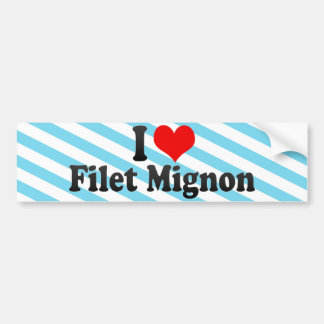 Amo el Mignon de prendedero Etiqueta De Parachoque