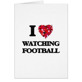 Amo el mirar de fútbol tarjeta de felicitación