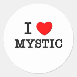 Amo el místico pegatina redonda