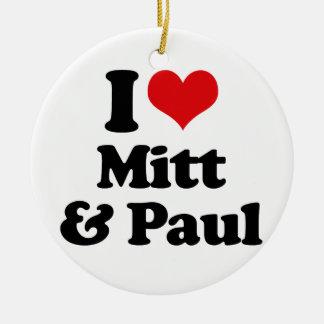 AMO el MITÓN Y PAUL png Ornamentos De Navidad