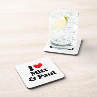 AMO el MITÓN Y PAUL.png Posavasos De Bebidas