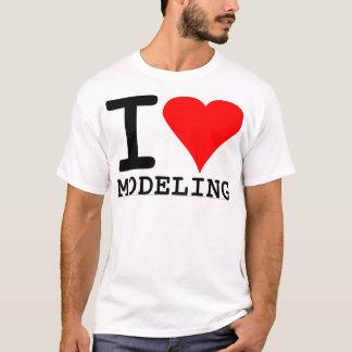 Amo el modelar playera